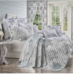 Estelle Blue Full/Queen 3pc. Quilt Set Bedding