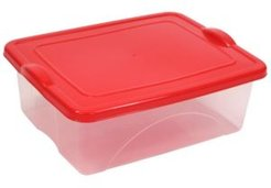 4 Gallon Clearview Storage with Color Snap-on Lid