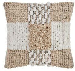 """Throw Pillow with Cross Moroccan Design, 18"""" x 18"""""""
