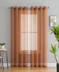 Lumino by Hlc. me Perth Semi Sheer Grommet Curtain Panels - 54 W x 84 L - Set of 2