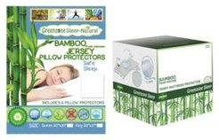 Queen Mattress Protector and 2 King Pillow Protectors