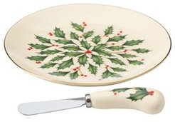 Hosting The Holidays Cheese Plate & Knife Set