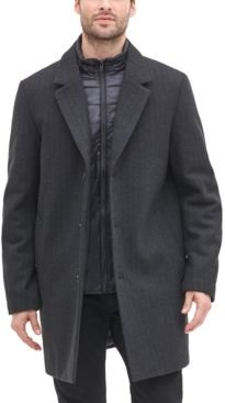 Top Coat with Removable Quilted Bib, Created for Macy's