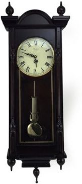 """Clock Collection Grand 31"""" Antique Chiming Wall Clock with Roman Numerals"""