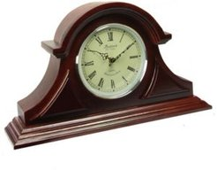 Clock Collection Tambour Mantel Clock with Chimes