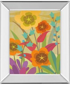 """Flowerbed by Cary Phillips Mirror Framed Print Wall Art, 22"""" x 26"""""""