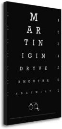 """Eye Chart Martini by Fig-Melon Press Giclee Print on Gallery Wrap Canvas, 23"""" x 34"""""""