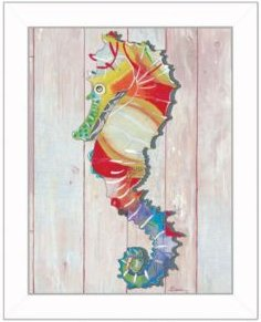 "Seahorse Ii By Sear, Printed Wall Art, Ready to hang, White Frame, 14"" x 18"""