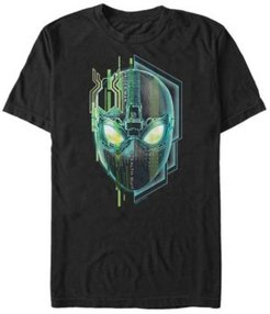 Spider-Man Far From Home Stealth Suit Big Face, Short Sleeve T-shirt