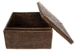 Artifacts Rattan Storage Box with Lid Letter File