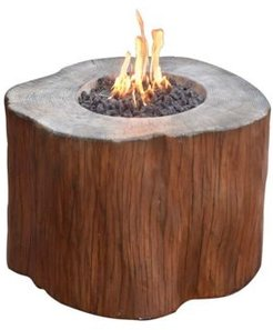 "42"" Manchester Outdoor Redwood Fire Pit Table Natural Gas"