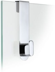 Glass Door Shower Hook - Polished - Areo Bedding