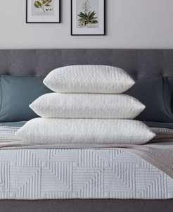 Dream Collection by Lucid Customizable Fiber and Shredded Foam Pillow with Zippered Inner Cover, Queen