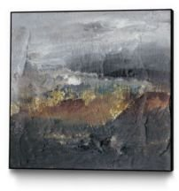 """30"""" x 30"""" Mountains in the Mist I Art Block Framed Canvas"""