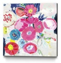 "30"" x 30"" Fresh Florals Iii Museum Mounted Canvas Print"