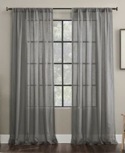 """Embroidered Border 50"""" x 96"""" Sheer Curtain Panel"""