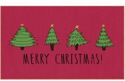 """Christmas Trees Accent Rug, 18"""" x 30"""" Bedding"""