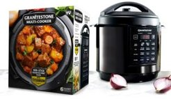 6-Qt. Triple Layer Titanium Coating Multi Cooker with Built-In Timer and Pre-Settings