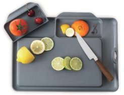 Nonslip Cutting Board and Serving Tray with Removable Compartments