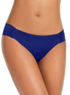 Sunset Solids Side-Shirred Hipster Bikini Bottoms, Created for Macy's Women's Swimsuit