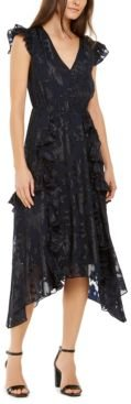 Inc Ruffled Button-Front Midi Dress, Created for Macy's