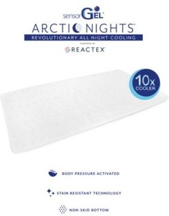 "Arctic Nights 10x Cooler Personal Cooling 60"" x 30"" Pad Powered by Reactex"