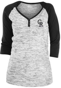Colorado Rockies Women's Space Dye Raglan Shirt