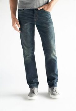 Slim Straight Fit Performance Stretch Denim Jeans, Moore Wash