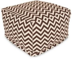 "Chevron Ottoman Square Pouf with Removable Cover 27"" x 17"""
