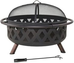Cross weave Outdoor Large Fire pit