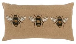 """Bees Polyester Filled Decorative Pillow, 26"""" x 14"""""""