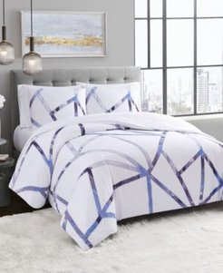 Vince Camuto Obelis Metallic 3 Piece Duvet Set, Full/Queen Bedding