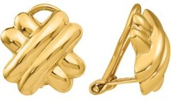 Polished Crisscross Clip-On Earrings