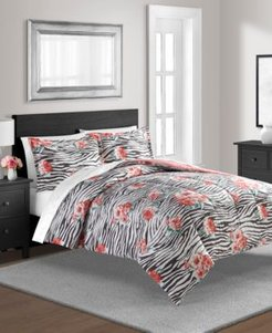 The Exotic Floral 2-Pc Twin Reversible Comforter Set Bedding