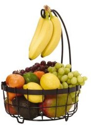 General Store Center Piece Basket with Banana Hook
