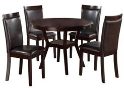 Homelegance Dover Dining Room Table and Chairs, Set of 5