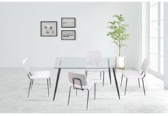 Bertha Contemporary Glass Top Dining Table