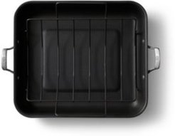 Premier Hard-Anodized Nonstick 16-Inch Roaster with Rack, Black