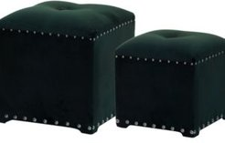 Upholstered Stools, Set of 2