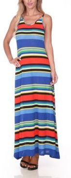 Open Back Colorful Maxi Dress