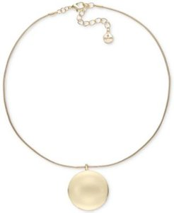 """Gold-Tone Orb Pendant Necklace, 17"""" + 2"""" extender, Created for Macy's"""