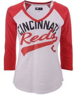 G-iii Sports Women's Cincinnati Reds Its A Game Raglan T-Shirt