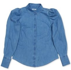 Chambray Puff-Shoulder Shirt, Created for Macy's