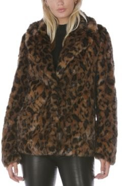 Leopard-Print Faux-Fur Coat, Created for Macy's