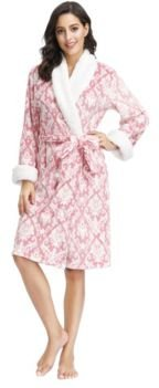 "Plush Robe with Sherpa Collar and Cuff 42"" Hps"