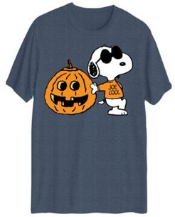 Snoopy Being Cool Halloween Short Sleeve T-shirt