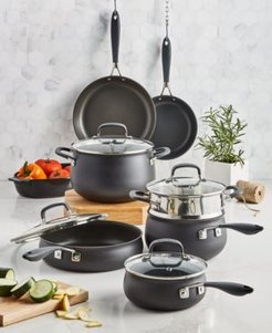 Hard-Anodized Aluminum 12-Pc. Nonstick Cookware Set, Created for Macy's
