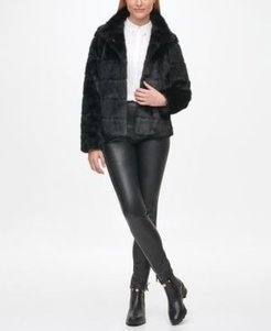 Tiered Faux Fur Coat