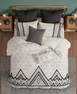 Marta 3 Piece Cotton Duvet Cover Set, Full/Queen Bedding