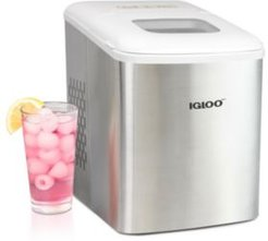 ICEBNH26SSWL No Handle Ice Maker, Stainless Steel and White
